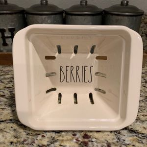 New Rae Dunn Ceramic BERRIES Container